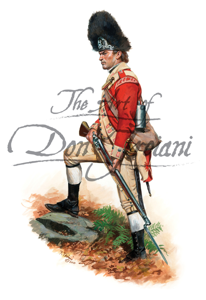 52nd Regiment of Foot, Private Grenadier Company, 1775 - American Revolution
