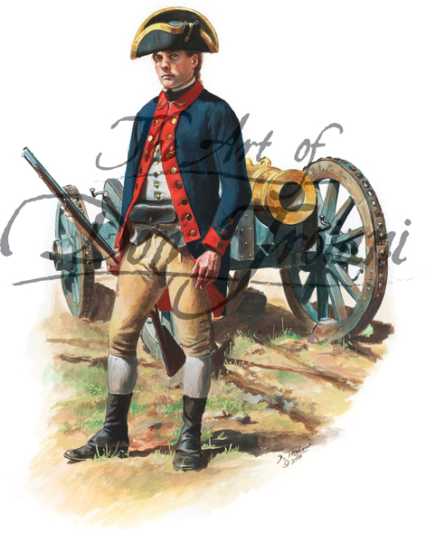 Knox's Artillery Regiment, Private 1776