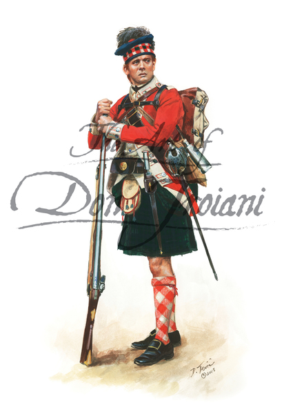 71st Regiment of Foot Fraser's Highlanders, 1776
