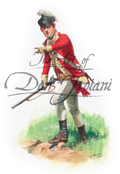 62nd Regiment of Foot Officer, 1777