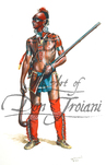 Troiani Shawnee Indian Warrior - French & Indian War