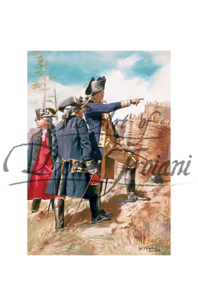 Washington and Rochambeau, Siege of Yorktown, Virginia, 1781