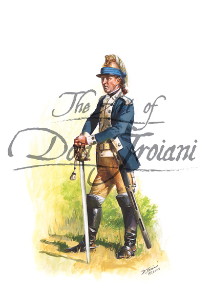 Troiani 2nd Continental Light Dragoon Sergeant, 1778