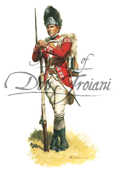British Grenadier, 33rd Regiment of Foot, 1776