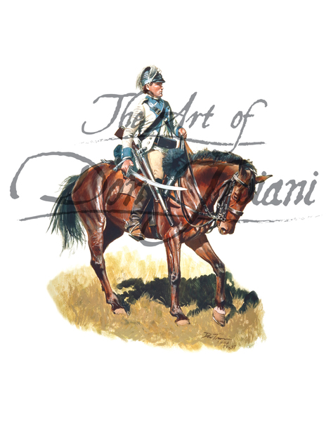 Private, 3rd Continental Light Dragoons, Captain Lewis's Troop, 1777-81