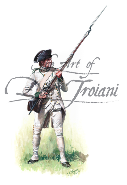 French Saintonge Regiment, Private, Yorktown, 1781