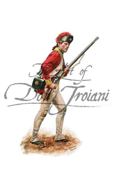British private of the 34th Regiment of Foot, 1777