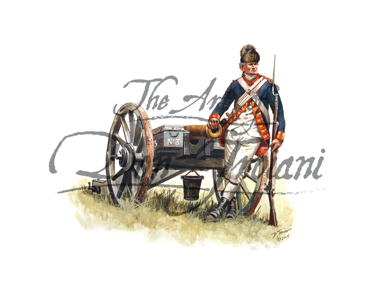 British Royal Artillery Gunner, Parade Order, 1778