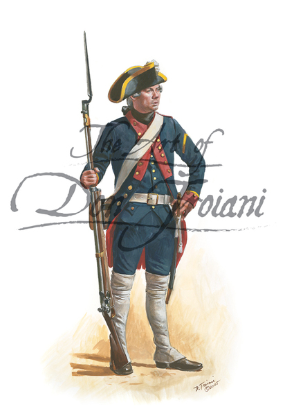 Troiani French naval Infantry Corporal 1778